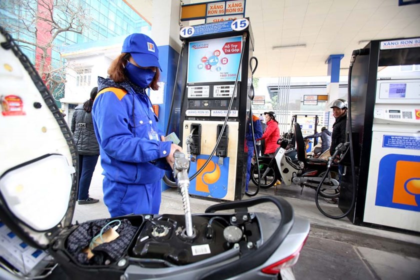 A Petrolimex gas station in Hanoi. Photo: Ngoc Thang