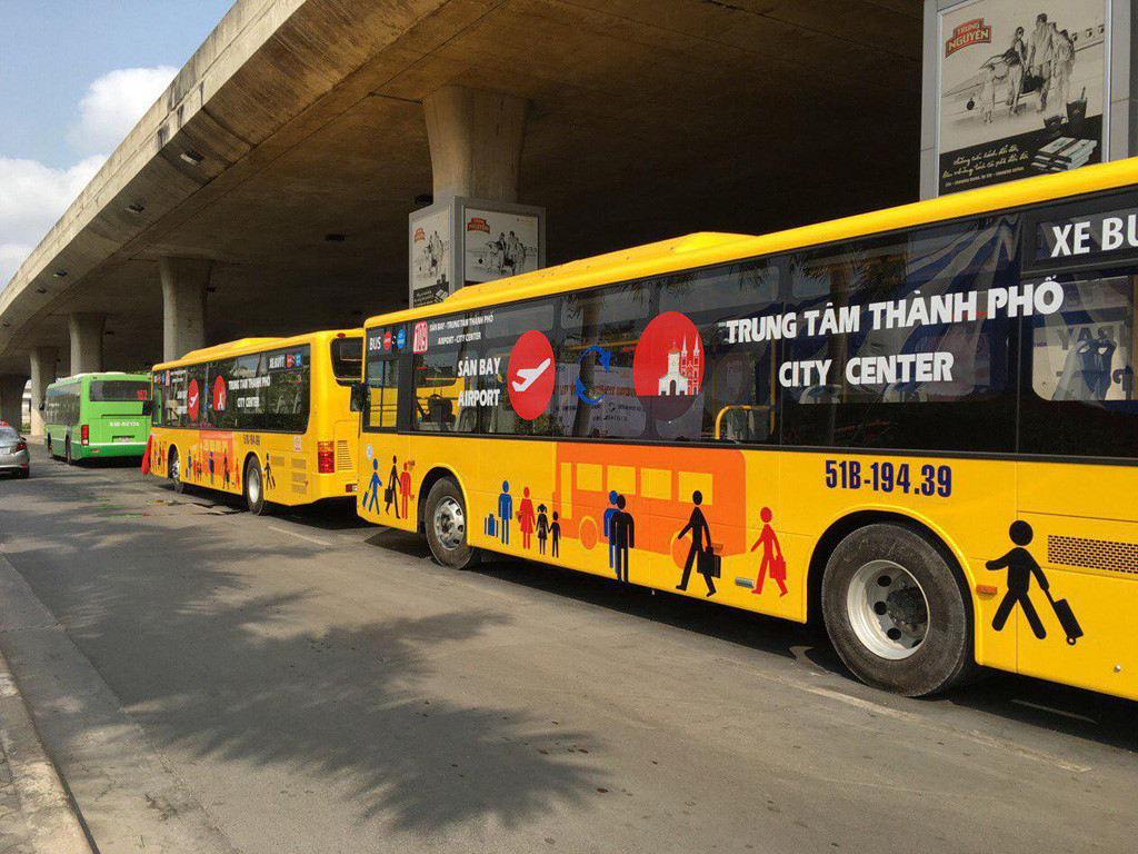 New bus service connecting Ho Chi Minh City airport, downtown