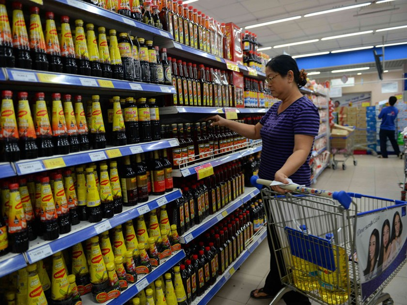An undated photo of a Masan sauce products in a Ho Chi Minh City supermarket. Photo: Diep Duc Minh