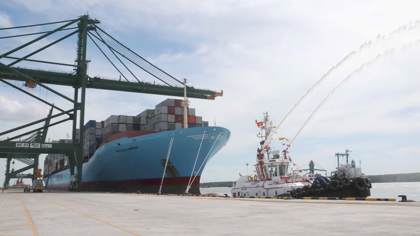 An undated photo of a cargo ship docking at a Vietnamese seaport. Photo: Diep Duc Minh