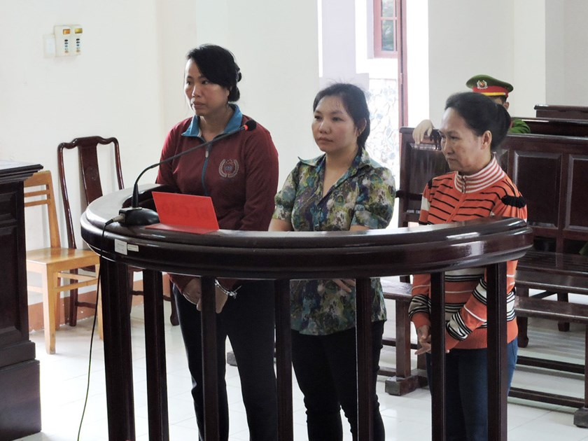 Three women stand trial in the southern province of Ba Ria-Vung Tau on March 30, 2016 for trafficking another woman to China. Photo: Nguyen Long/Thanh Nien