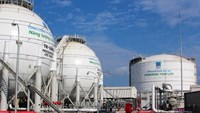 An undated photo of PV Gas' LPG tanks. Photo credit: PV Gas's website