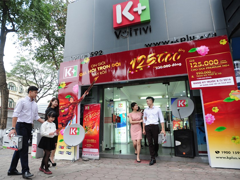 An office of pay TV provider K+ in Vietnam. Photo credit: K+ website