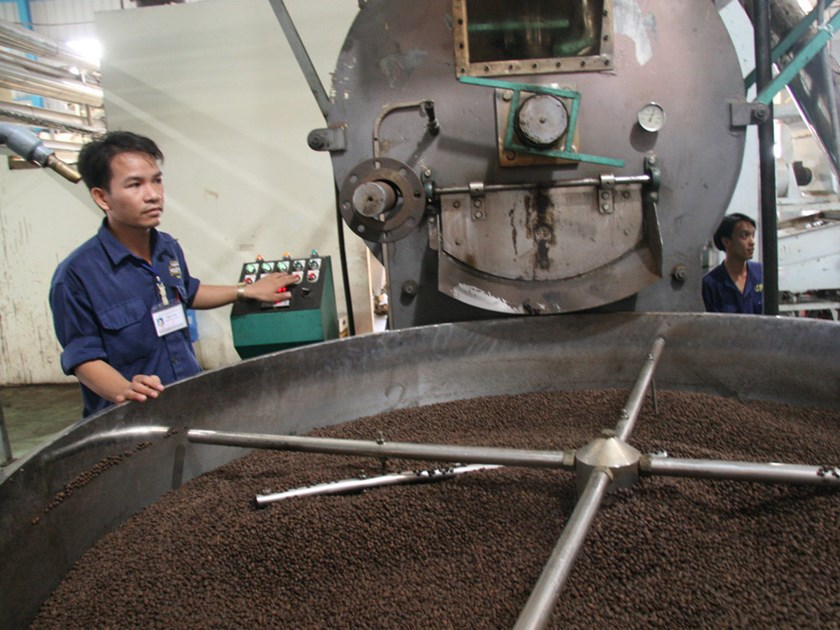 An undated photo of a Vietnamese coffee factory. Photo: Diep Duc Minh/Thanh Nien