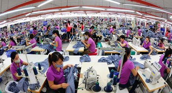 A garment factory in Hanoi. Photo: Ngoc Thang