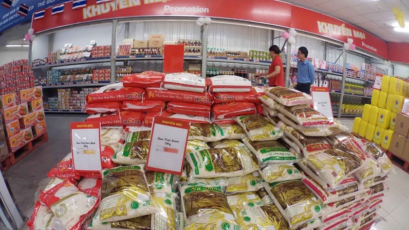 Thai rice sold at Thai's wholesale store Metro in Ho Chi Minh City. Photo: Dao Ngoc Thach/Thanh Nien