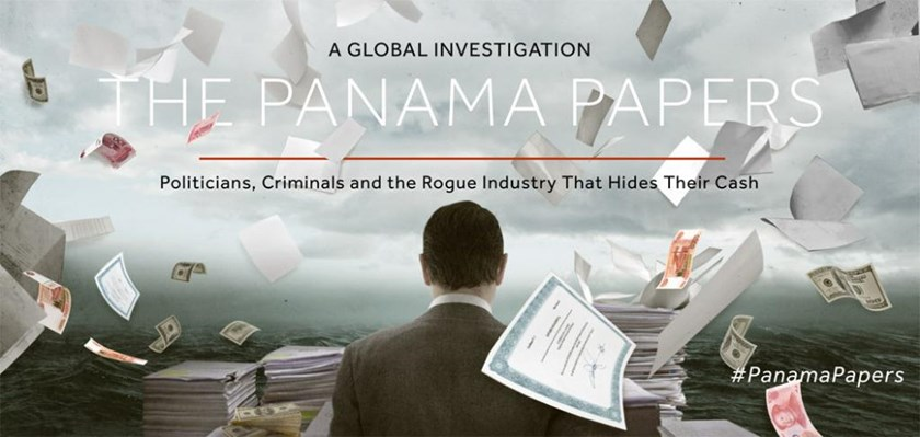 A screenshot of the website https://panamapapers.icij.org/
