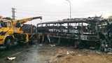 The wreckage of one of the two sleeper buses that were burned down in a head-on collision in the central province of Binh Thuan on May 22. Photo: Que Ha