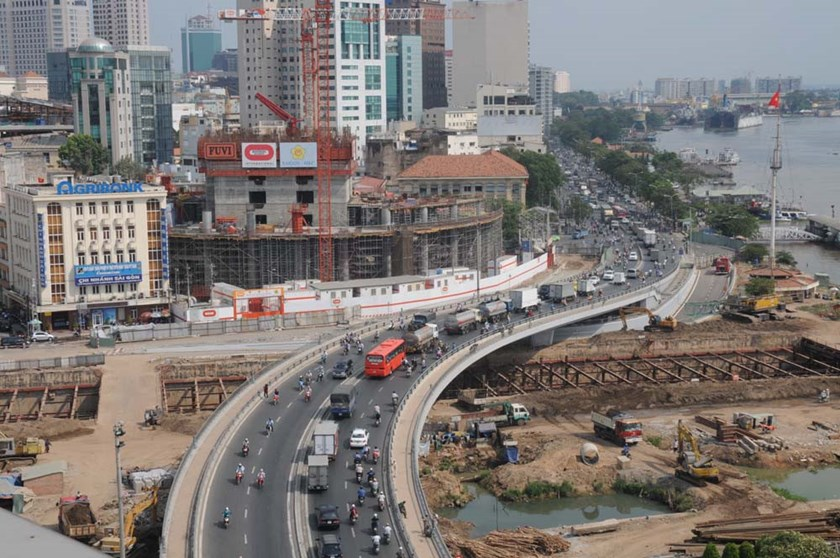 A newly-built road in Ho Chi Minh City. Photo: Diep Duc Minh/Thanh Nien