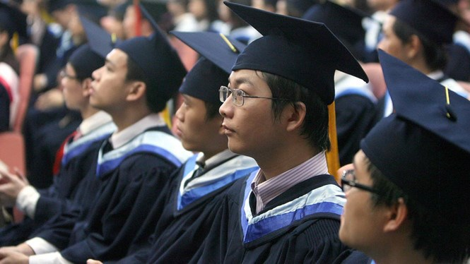 A file photo of students at a graduation ceremony at Vietnam National University-Ho Chi Minh City. Photo: Dao Ngoc Thach/Thanh NIen