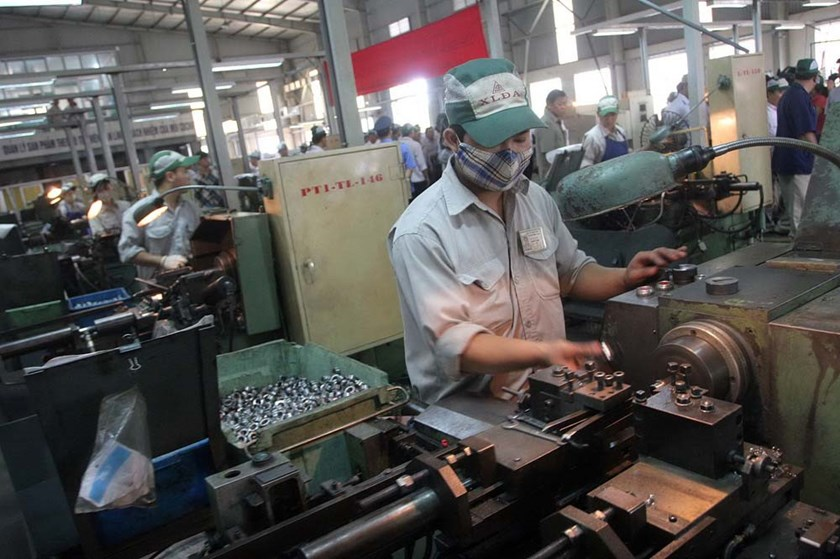 A file photo of a manufacturing factory in Hanoi. Photo: Ngoc Thang/Thanh Nien