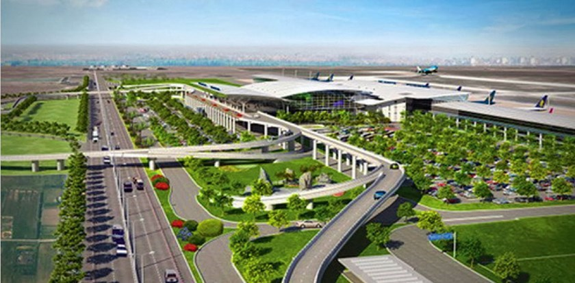 A digital rendering of the planned Long Thanh Airport in the southern province of Dong Nai, around 40 kilometers to the northeast of Ho Chi Minh City