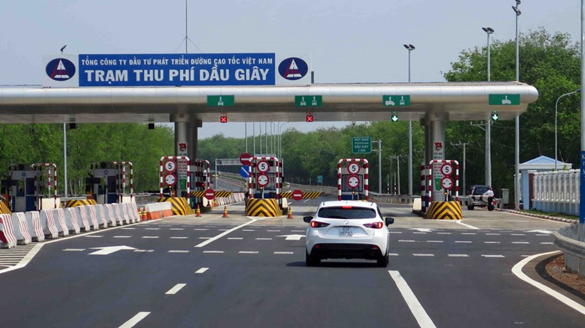 A file photo of a toll booth on newly-built expressway Ho Chi Minh City-Long Thanh-Dau Giay. Photo: Dao Ngoc Thach
