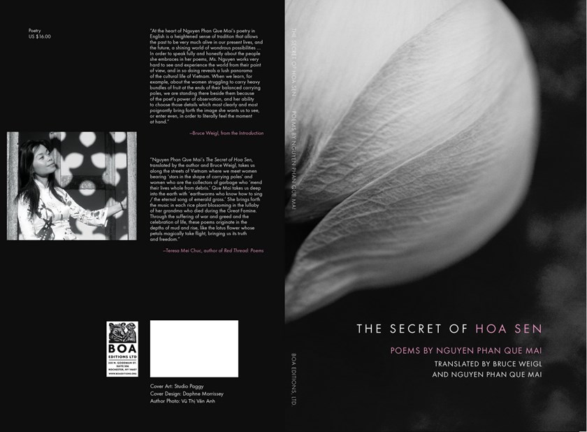The cover of The Secret of Hoa Sen -- poems by Nguyen Phan Que Mai
