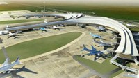 A rendering of Long Thanh Airport in Dong Nai Province. File photo