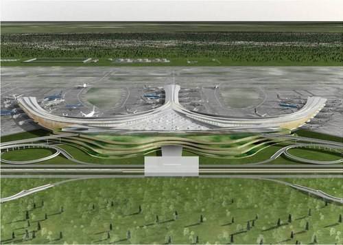 A digital rendering of the planned Long Thanh Airport in the southern province of Dong Nai, around 40 kilometers to the northeast of Ho Chi Minh City.
