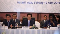 Prime Minister Nguyen Tan Dung chairs the Vietnam Development Partnership Forum 2014 on December 5. Photo: Manh Quan