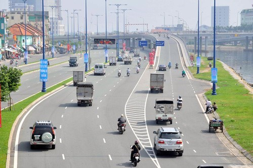 A file photo shows a Ho Chi Minh City's road built with ODA (official development assistance) fund. ODA with long maturity and low interest rates makes up around 94 percent of Vietnam's external debts. Photo: Diep Duc Minh