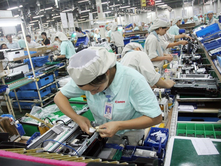 A foreign-invested electronics factory in Vietnam. Photo: Ngoc Thang