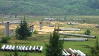 The construction site of Guang Lian Dung Quat Steel Mill in the central province of Quang Ngai. Photo credit: Dau Tu