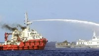 Vietnamese ship returns water cannon fire with Chinese