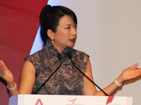 Debra Soon, Managing Director of Channel NewsAsia speaks at the Vietnam Business Insights forum in Ho Chi Minh City on May 22. Photo credit: Saigon Times