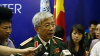 Vietnam's Deputy Defence Minister General Nguyen Chi Vinh (C) speaks with the media after the inauguration ceremony of Vietnam Peace Keeping Center in Hanoi May 27, 2014. Photo credit: Reuters