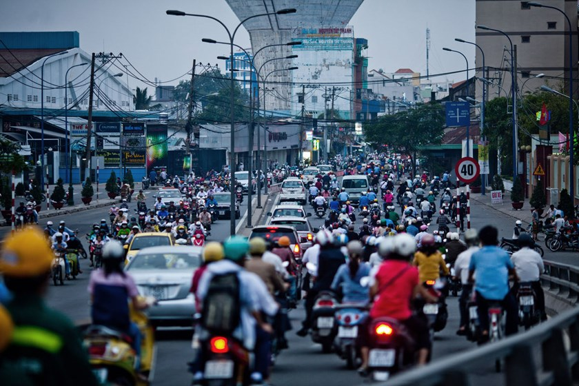 A street in Ho Chi Minh City, Vietnam's economic hub. Photo credit: Bloomberg