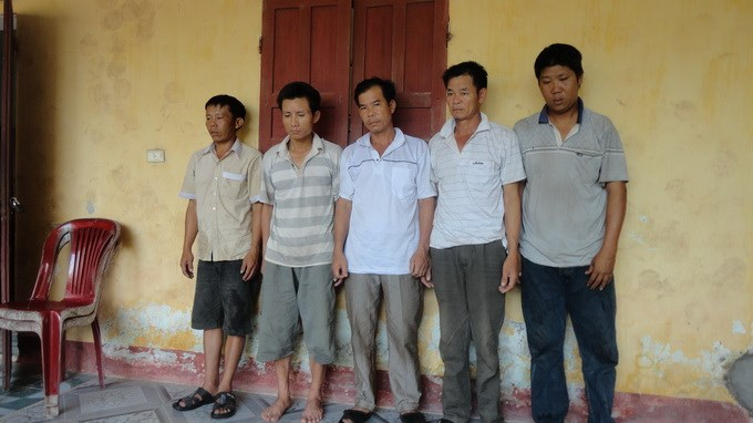 These five men are among 99 detainees for allegedly rioting, vandalizing, and looting at a steel mill project owned by Taiwan's Formosa Plastics Group in Vietnam's north-central province of Ha Tinh on May 14