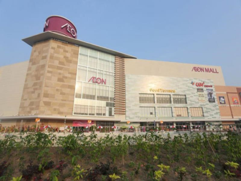 Aeon mall in Tan Phu District, roughly nine kilometers west of downtown Ho Chi Minh City. Photo: Thanh Nien