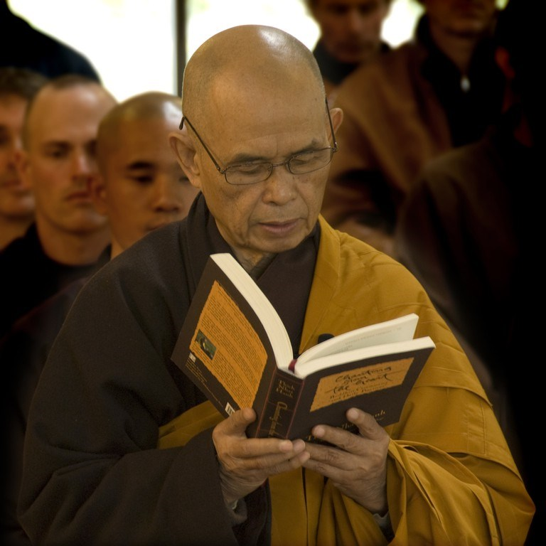 Thich Nhat Hanh, a world-famous Buddhist leader, in a file photo posted on plumvillage.org