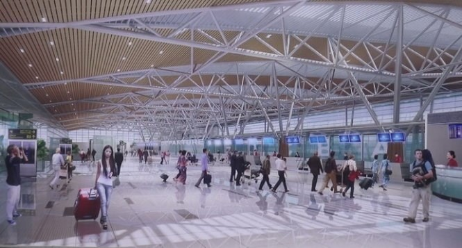 A rendering image of the new terminal at Da Nang International Airport in Da Nang City. Photo credit: Tuoi Tre