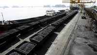 Containers transporting coal sit at the dock before being loaded onto a Chinese ship at a port of the Cua Ong Coal Preparation company in Cam Pha town, Vietnam, in this September 21, 2010 file photo. Photo: Reuters/Kham