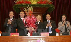 Vietnam's Party chief Nguyen Phu Trong re-elected: report