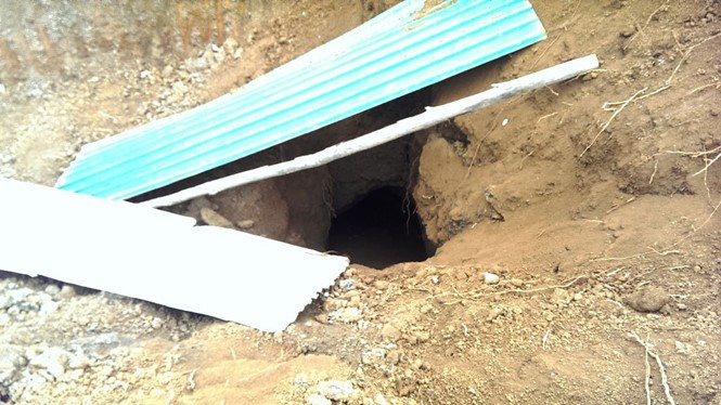 A tunnel has recently been found in Cua Tung Town, Vinh Linh District, Quang Tri Province. Photo: Nguyen Phuc