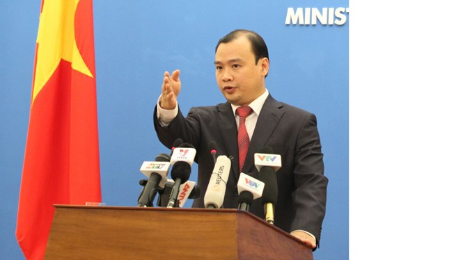 Le Hai Binh, spokesman for Vietnam's Ministry of Foreign Affairs. Photo: Ngoc Thang/Thanh Nien
