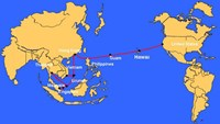 A map depicting the path of the Asia America Gateway cable system. Photo credit: VNPT
