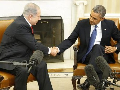 At White House, Israel's Netanyahu pushes back against Obama diplomacy
