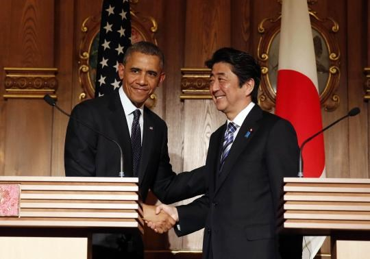 Obama reaffirms commitment to Japan on tour of Asia allies