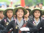 Military parade rehearsal in Dien Bien Phu
