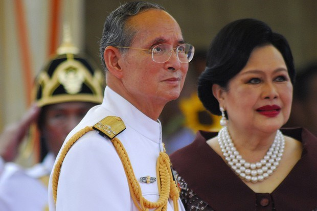 Bhumibol Adulyadej, king of Thailand, and his wife Sirikit.
