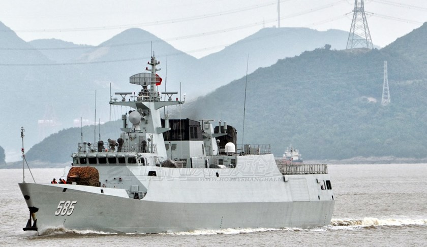 "The Chinese Navy last year commissioned nine new Jiangdao-class corvettes armed with anti-ship cruise missiles for operations close to shore, ""especially in the South China Sea and East China Sea,"" the Pentagon said. Photo credit: Chinese Military Review"
