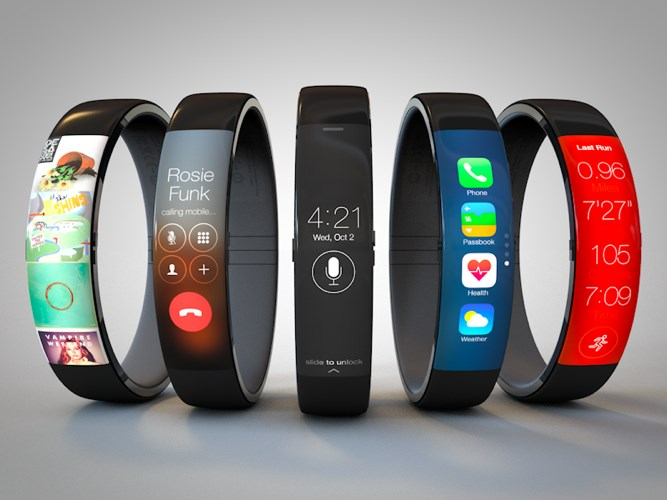Curved iWatch concept by Todd Hamilton, based on the Nike FuelBand
