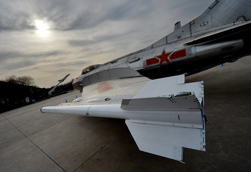 A Chinese-made J6 fighter jet on display at the People's Liberation Army Aviation Museum in Beijing. Photo credit: AFP