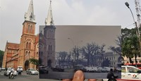 Saigon landmarks: then and now