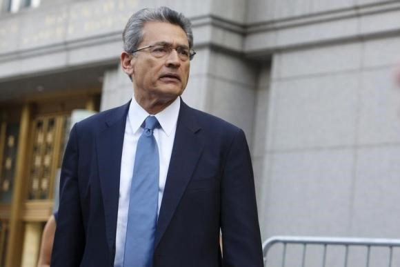 Former Goldman Sachs Group Inc board member Rajat Gupta leaves Manhattan Federal Court in New York June 8, 2012.