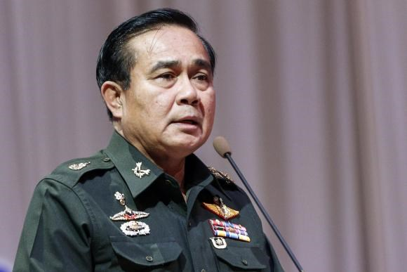 Thai Army chief General Prayuth Chan-ocha speaks at a meeting to discuss the 2015 national budget, at the Army Club in Bangkok June 13, 2014.