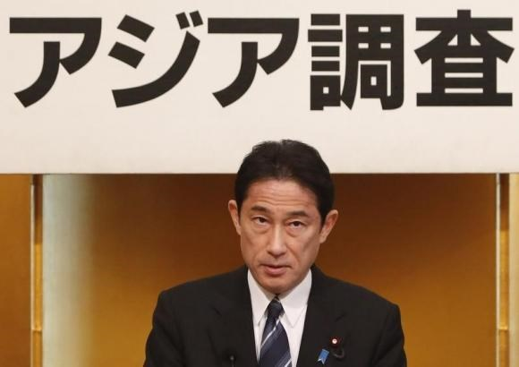 Japan's Foreign Minister Fumio Kishida gives a speech during a seminar in Tokyo January 17, 2014.