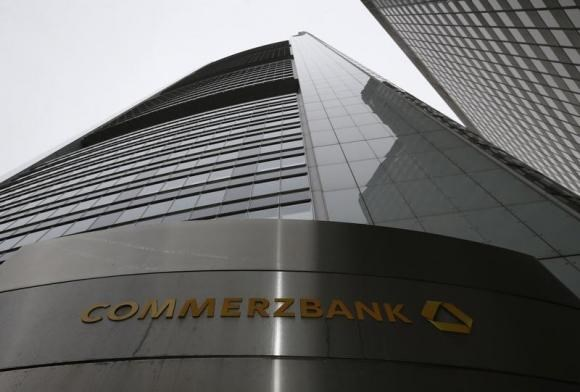 The headquarters of the Commerzbank AG is pictured before the bank's annual news conference in Frankfurt February 13, 2014