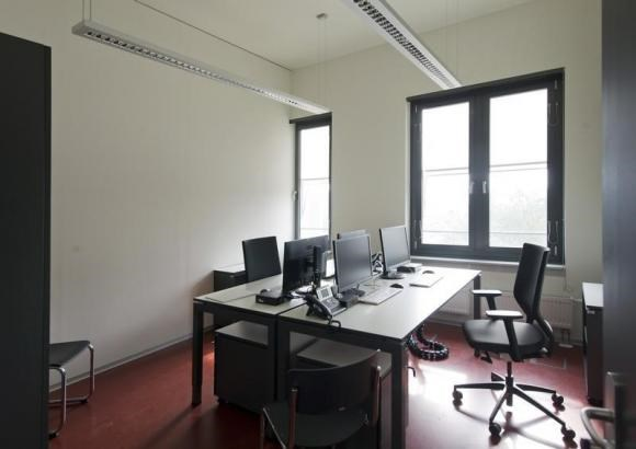 General view of an empty office at the German Federal Intelligence Agency (BND) during the opening ceremony of the BND headquarters in Berlin March 31, 2014.